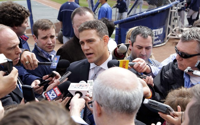 Former Red Sox GM Theo Epstein is reunited with Manny Ramirez in the Cubs organization.