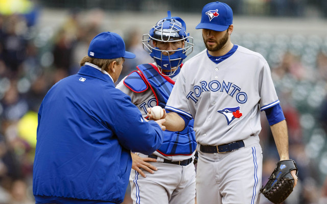 Brandon Morrow's rehab from a forearm strain hit another snag.