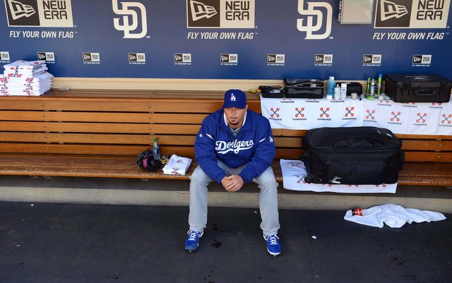 The Dodgers have lost Josh Beckett for the rest of 2013. (USATSI)