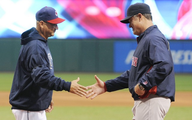Francona (l.) has been invited to the AL All-Star Team staff by Farrell.