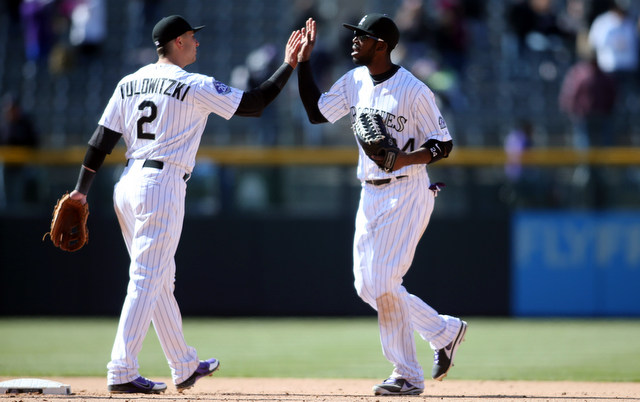 Dexter Fowler (right) and Troy Tulowitzki are close to returning to the Rockies. (USATSI)