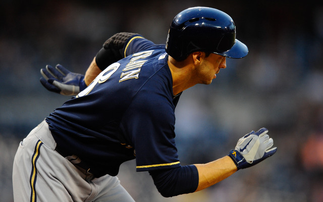 Ryan Braun won't be wearing Nike batting gloves when he returns in 2014.