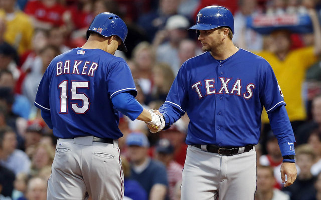The Rangers will be without Jeff Baker for a few days. (USATSI)