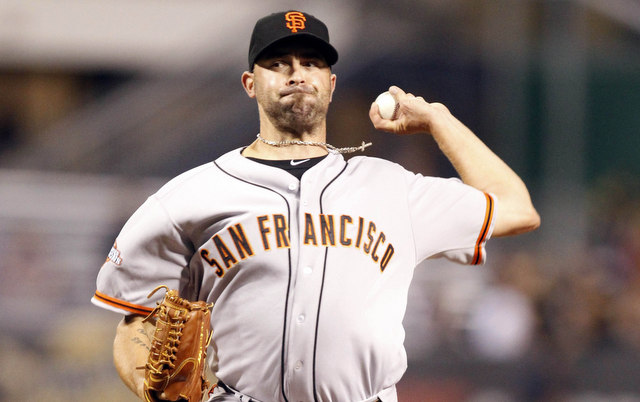 The Giants will be without Jeremy Affeldt for at least the next two weeks.