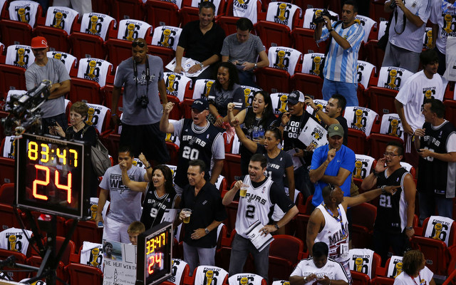 There were plenty of empty seats when the Heat made their Game 6 comeback. (USATSI)