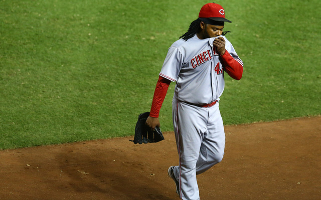 Johnny Cueto took a step towards returning to the Reds on Wednesday.