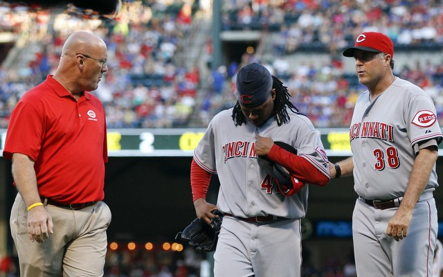 Once again, the Reds have lost Johnny Cueto to a lat injury. (USATSI)
