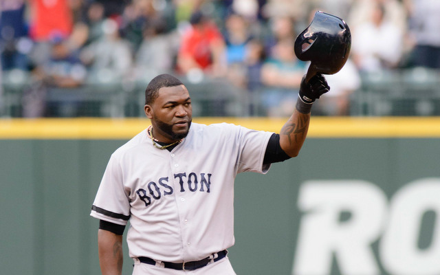 David Ortiz tipped his cap to the crowd after becoming the all-time DH hit king. (USATSI)