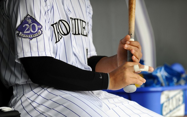 Carlos Gonzalez will finally give that injured finger a chance to heal.
