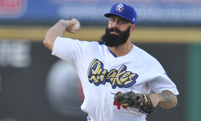 Brian Wilson and his beard are very close to returning to the big leagues with the Dodgers.