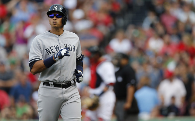 Alex Rodriguez was at the center of a benches-clearing incident on Sunday.