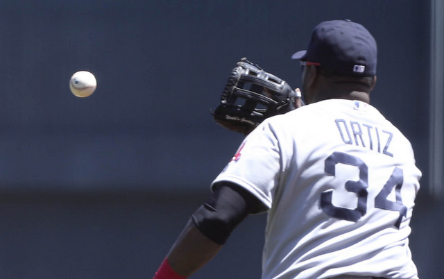 David Ortiz is going to have to find his mitt before Game 3.
