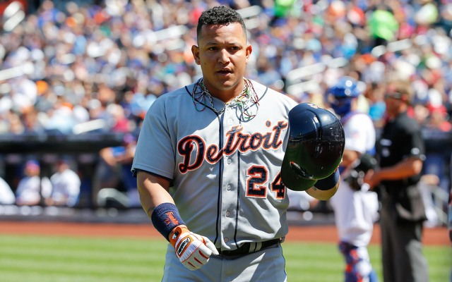 A series of minor injuries have kept Miguel Cabrera on the bench lately.