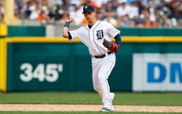 Jose Iglesias left Wednesday's game with a leg problem after running out a ground ball.