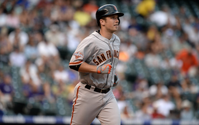 A finger injury has sidelined Buster Posey for a few days this week.