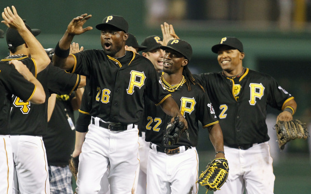 cAndrew McCutchen (#22) is the Pirates' star, but he didn't breaking the losing season streak on his own.