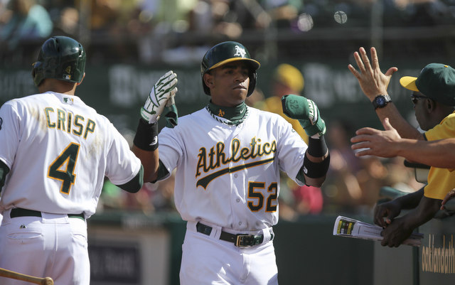 Yoenis Cespedes and the rest of the Athletics will close the week atop the AL West.