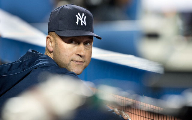 Derek Jeter started preparing for the 2014 season on Monday.