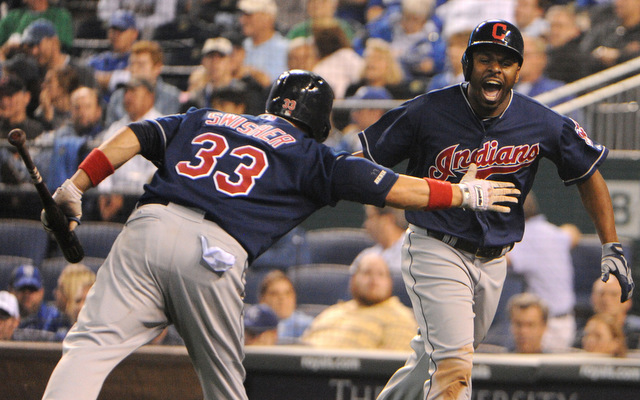 Michael Bourn and the Indians made a big comeback against the Royals on Tuesday.