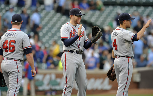 The Braves took a big step towards their ultimate goal by clinching the division title Sunday.