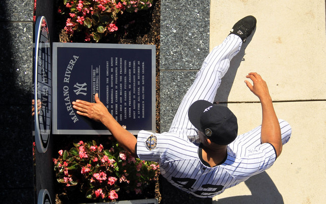 Mariano Rivera now has his own monument in Monument Park.