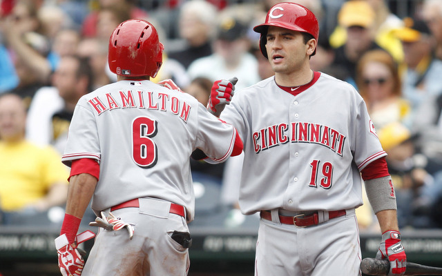 Billy Hamilton (left) and Joey Votto make the Reds and dangerous draw in the postseason.