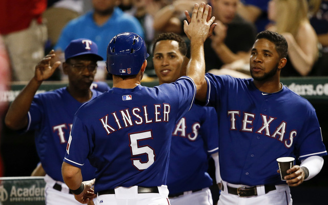 Five straight wins have the Rangers a game out of a wild-card spot with two to play.