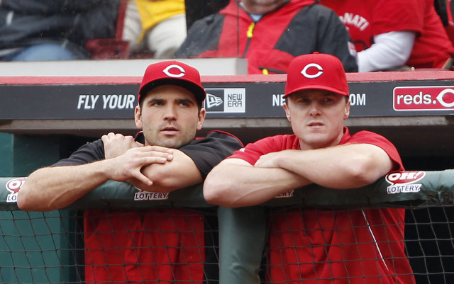 The Reds welcome Bruce (r.) back, but lose Votto.