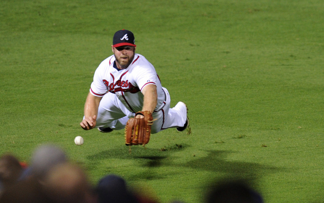 Evan Gattis is on track to be the Braves everyday left fielder.