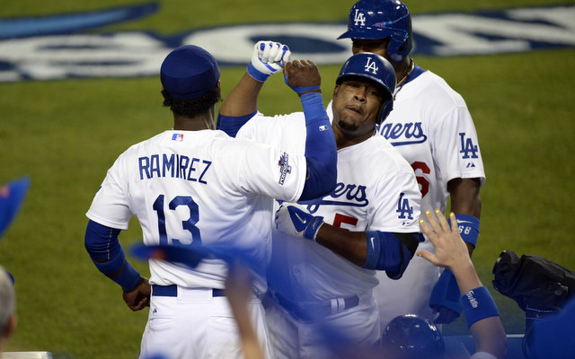 Juan Uribe and others carried the Dodgers to a Game 4 win.