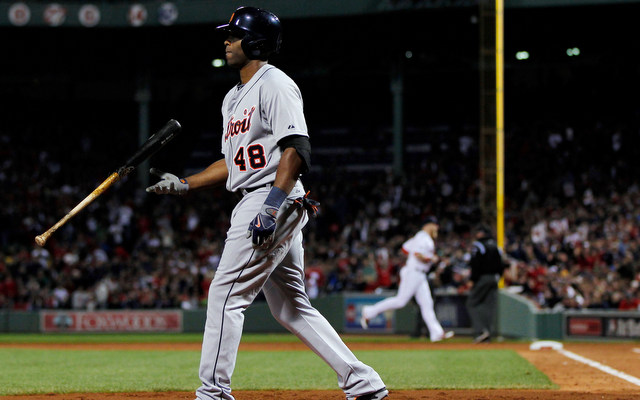 Torii Hunter has been a problem atop the Tigers lineup in the postseason so far.