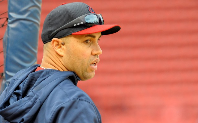 Carlos Beltran had to leave Game 1 of the Fall Classic in the third inning.