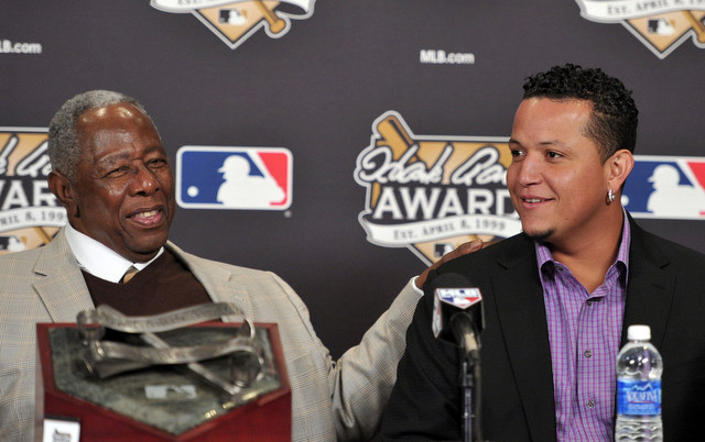 Hank Aaron Award on Sunday, surgery to repair a groin strain on Tuesday.