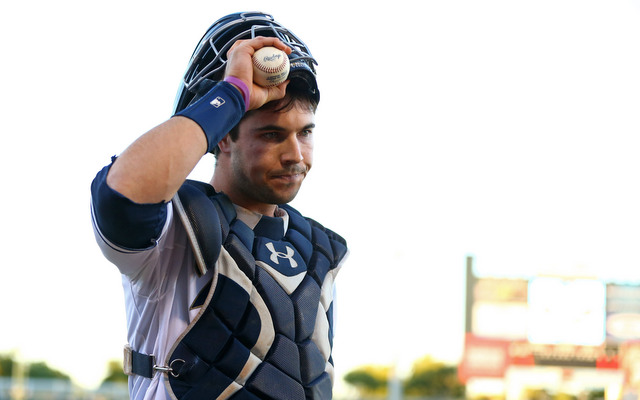 Austin Hedges' bat is starting to catch up to his glove.