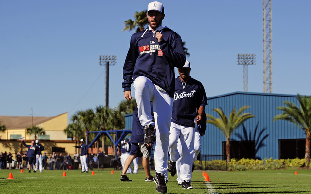 Despite offseason surgery, Justin Verlander is already working out.