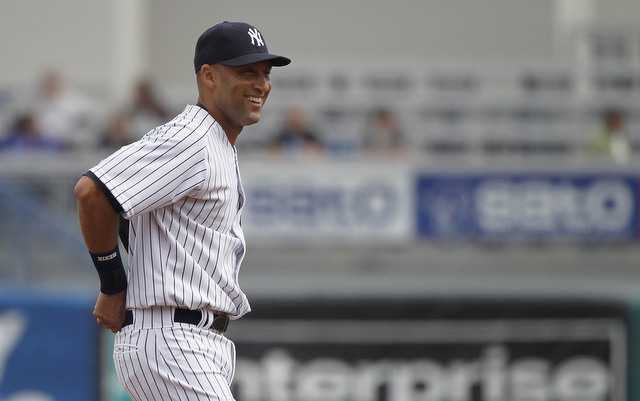 Derek Jeter played the first game of his final season on Thursday.