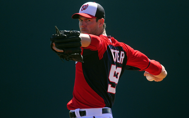 The start of Doug Fister's season is in doubt due to a lat strain.
