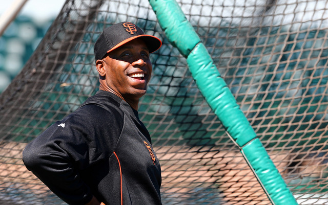Barry Bonds took batting practice on Sunday, but no one was around to see it.