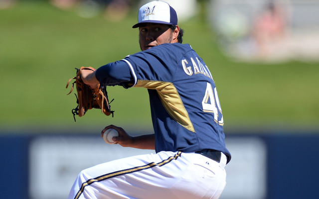 Yovani Gallardo will set a new Brewers record for opening day starts in 2014.