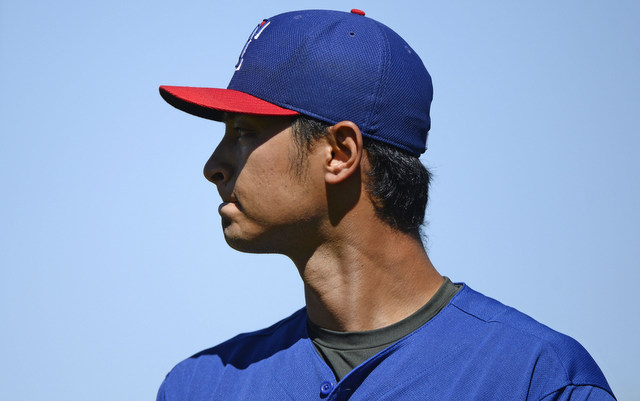 Yu Darvish and his problematic neck made some progress on Sunday.