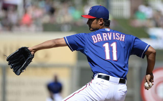 Yu Darvish's scheduled opening day start does not seem to be in danger.