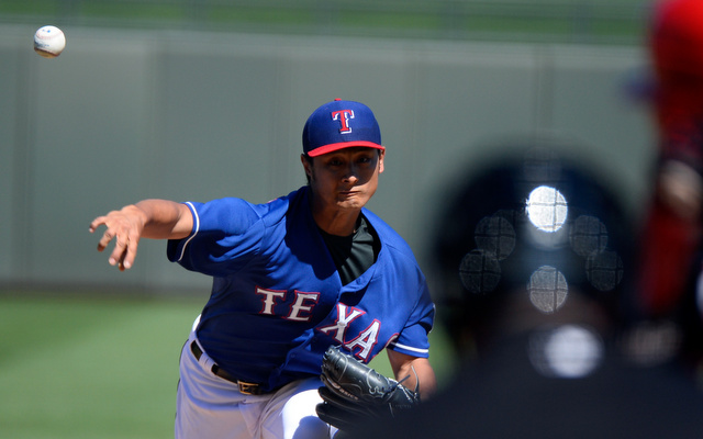 Yu Darvish will not be on the mound for the Rangers on opening day.