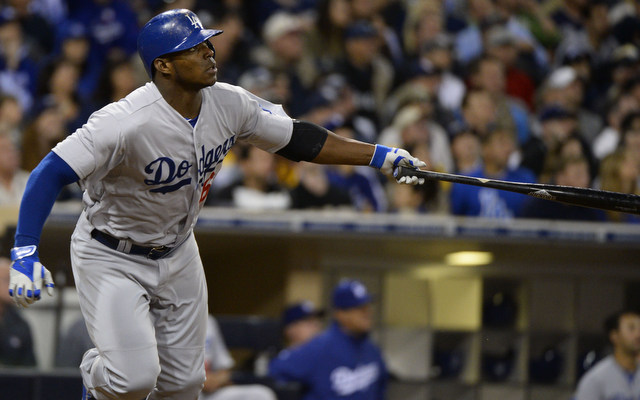 Yasiel Puig earned himself a spot on the bench Friday.