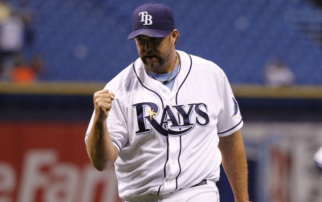 Heath Bell's time with the Rays is already over.