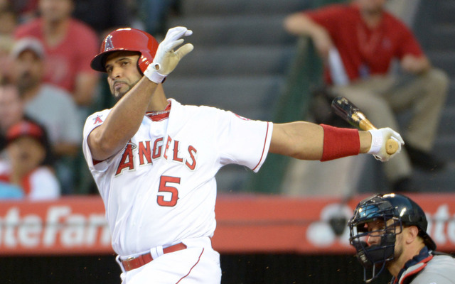Albert Pujols is back, just not all the way.