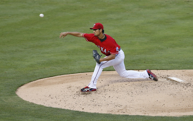 The Red Sox couldn't get anything going against Yu Darvish.