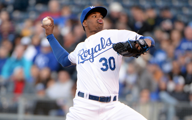 Yordano Ventura's elbow is barking.