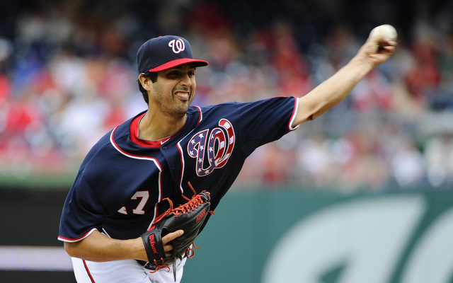 The Nationals want to have Gio Gonzalez's left arm checked out.