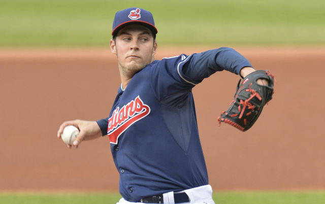 Trevor Bauer sat in the upper-90s on Tuesday night.