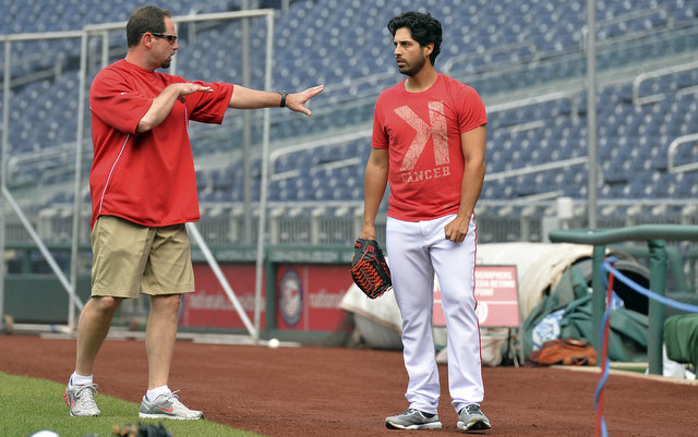 Gio Gonzalez threw in the bullpen on Thursday.